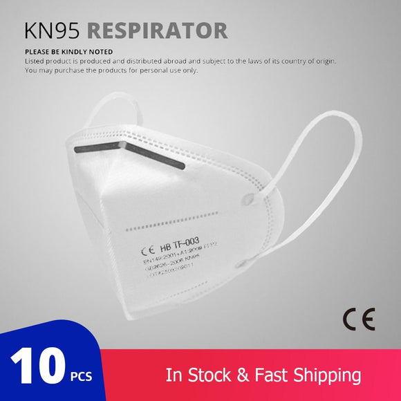 10 Pcs KN95 Face Masks Dust Respirator - Instant Essentials