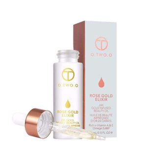 24K Rose Gold Elixir Moisturizing Essence Oil Anti-aging - Instant Essentials