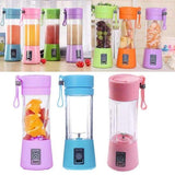 380ml Mini Portable USB Rechargeable Electric Juicer Bottle Fruit Blender Mixer with 2 Vanes - Instant Essentials