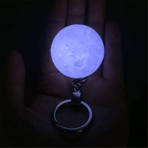 3D Moon Light with Key Chain Accessories for Keychain Handbag Key Ring Car Key - Safety LED Night Light for Women, Kids Birthday & Christmas Gifts - Instant Essentials