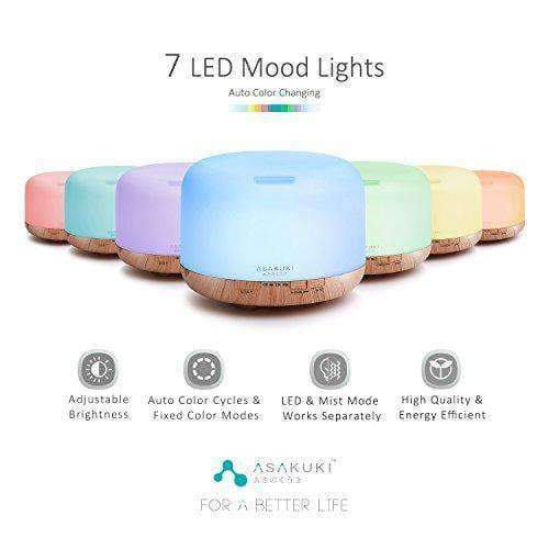 500 ml Premium, Essential Oil Fragrant Diffuser 5 In 1 Ultrasonic Aromatherapy - Instant Essentials