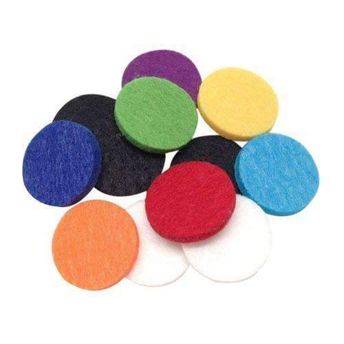 Aromatherapy Necklace Locket Refill Pads (30 MM) (12 Pack Multi-Color) - Instant Essentials