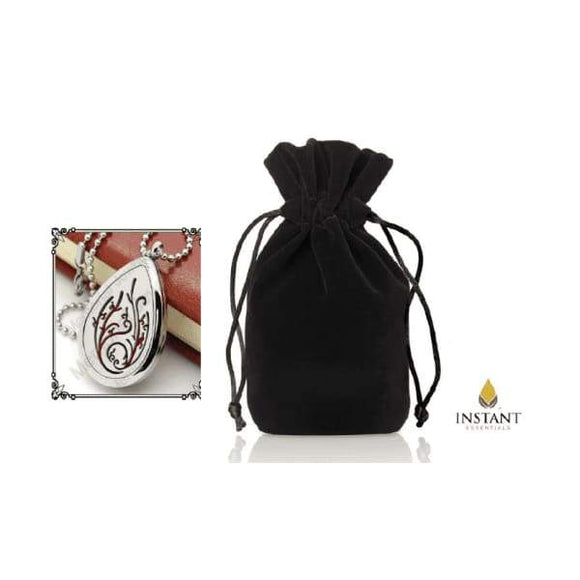 Black Pouch Deluxe - Aromatherapy Necklace of the Month Program - Instant Essentials