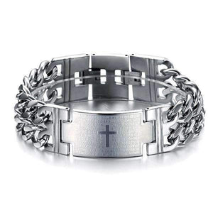 Bold Cross Stainless Steel Men's Bracelet - Instant Essentials