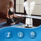 Everlasting Comfort Cool Mist Humidifier for Bedroom (6L) - Filterless - Whisper Quiet - Includes Essential Oil Tray (Black) - Instant Essentials