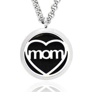 """I Heart Mom"" Aromatherapy Diffuser Necklace - Instant Essentials"