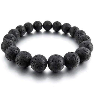 Lava Rock Beads Essential Oil Bracelet (Black Stones) (6 PACK) BOGO Special - Instant Essentials