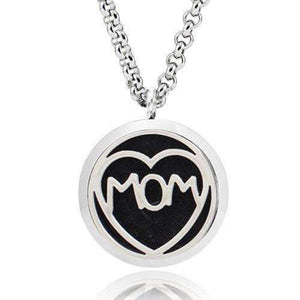 """Mom I Love You"" Aromatherapy Diffuser Necklace - Instant Essentials"