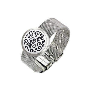 Nature's Element Stainless Steel Essential Oil Diffuser Locket Strap Bracelet - Instant Essentials
