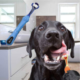 Orgrimmar 2 Pcs 3 Sided Pet Toothbrush Dog Brush - Instant Essentials