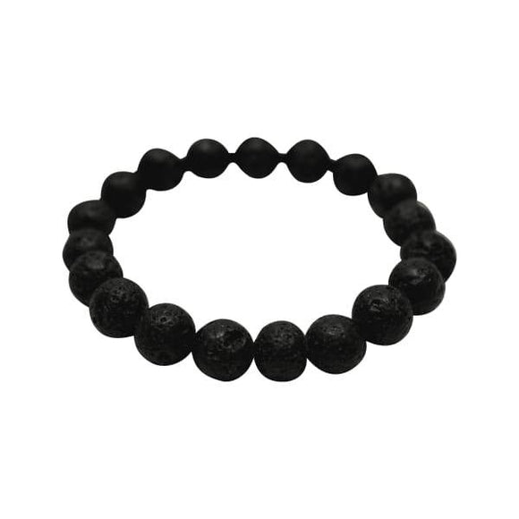 Original Kid Youth Size Lava Rock Bracelet (Black Stones) (4 PACK) BOGO Special - Instant Essentials