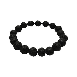 Original Kid Youth Size Lava Rock Bracelet (Black Stones) - Instant Essentials