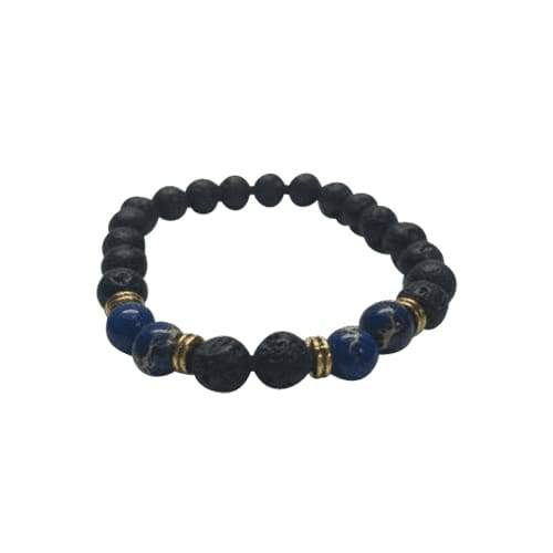 Original Lava Rock Beads Essential Oil Bracelet (Blue Stones)( 4 PACK) BOGO Special - Instant Essentials