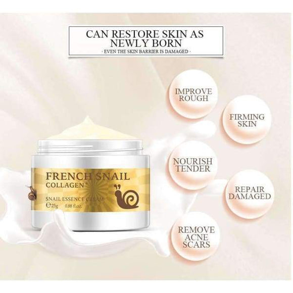 Snail Face Cream Hyaluronic Acid Anti-Wrinkle Anti-aging - Instant Essentials
