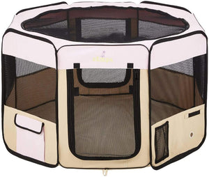 Zampa Portable Foldable Pet playpen Exercise Pen Kennel - Instant Essentials