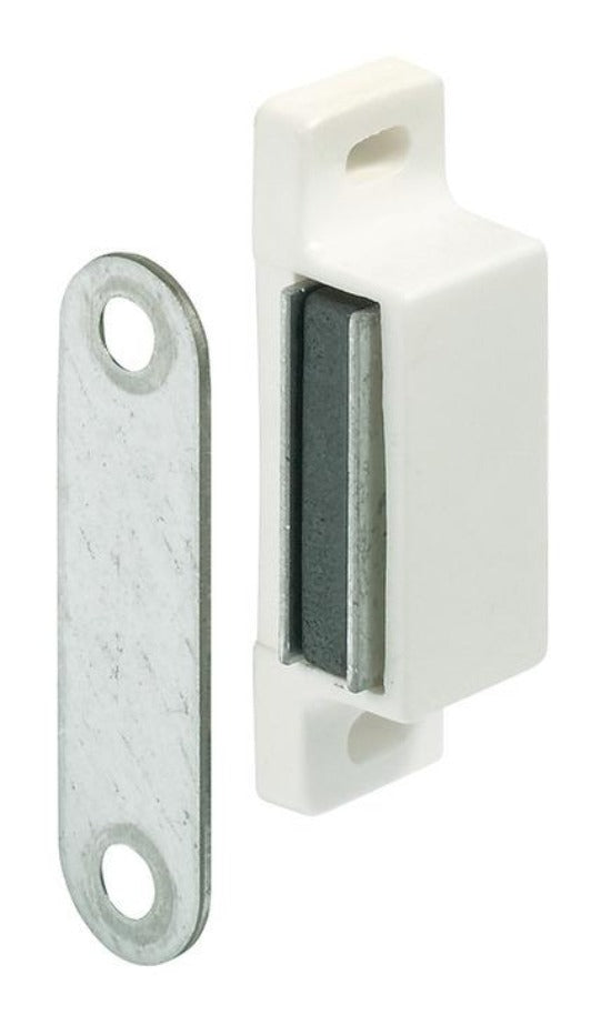 Magnetic  Cupboard catch 6Kg white (single) - Fullie Hardware