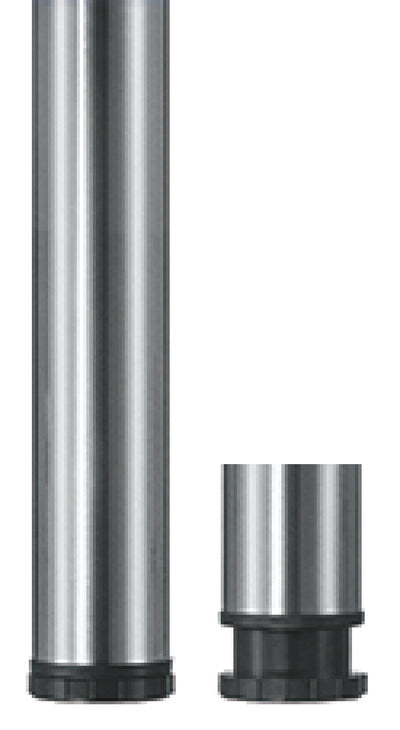 Table Leg Brushed Steel (4) - Fullie Hardware