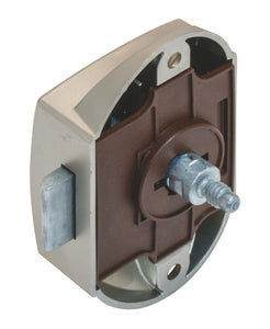 Push Button Lock SILVER With Latch - Fullie Hardware