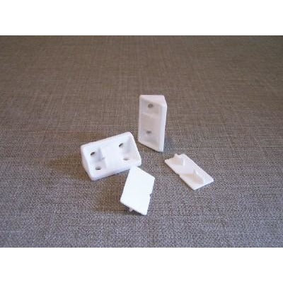 Nylon Corner Fixing Block (per10) - Fullie Hardware
