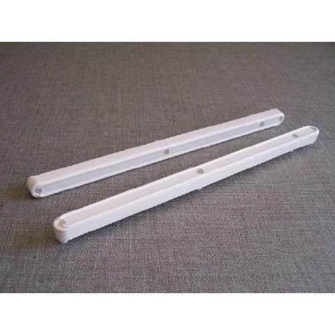 Plastic Drawer Slides [ WHITE Dowel]  (1 x set)