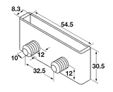 Bed Slat pocket, for press fitting - Fullie Hardware