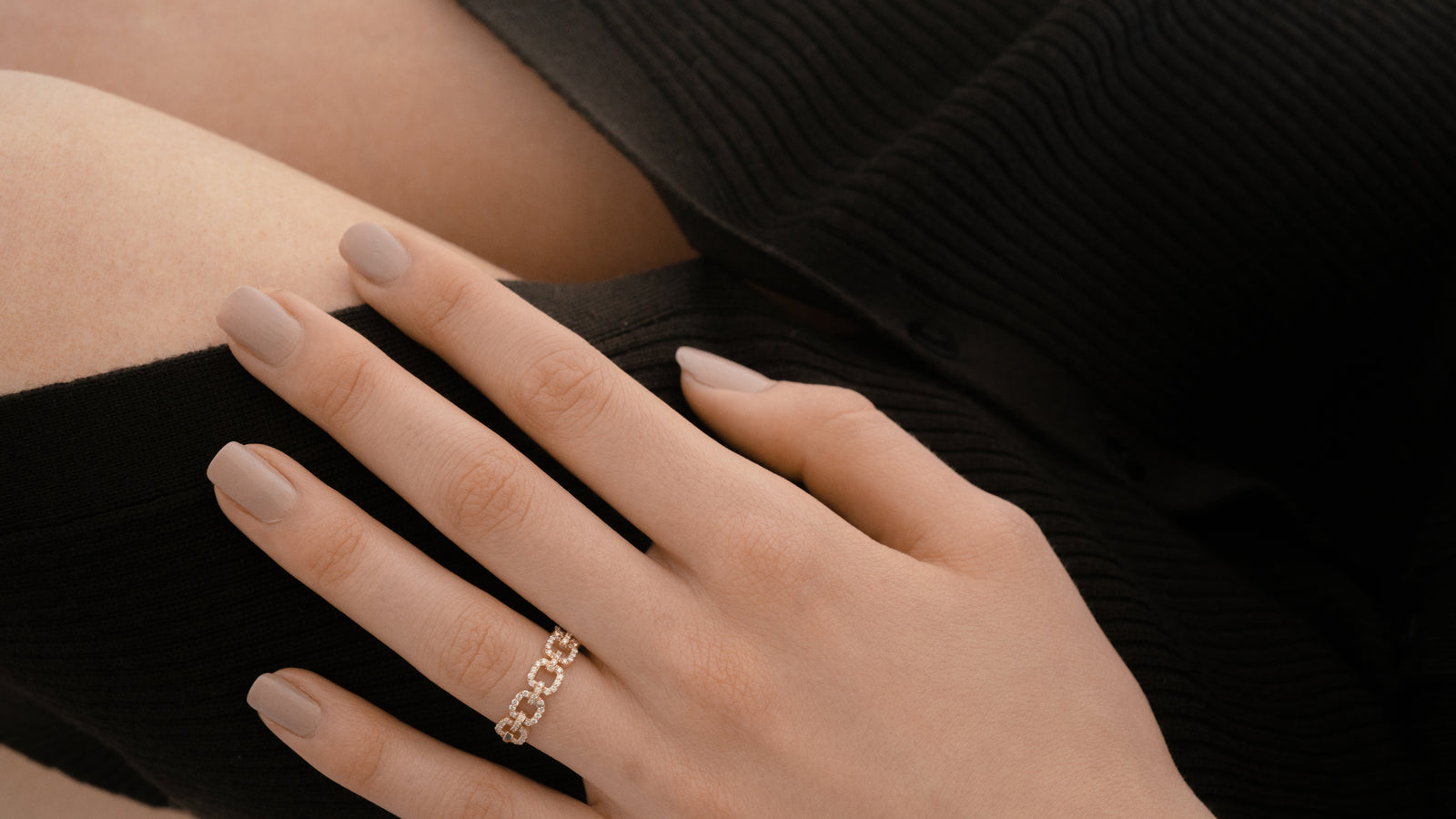 Eternity Diamond Chain Link Ring