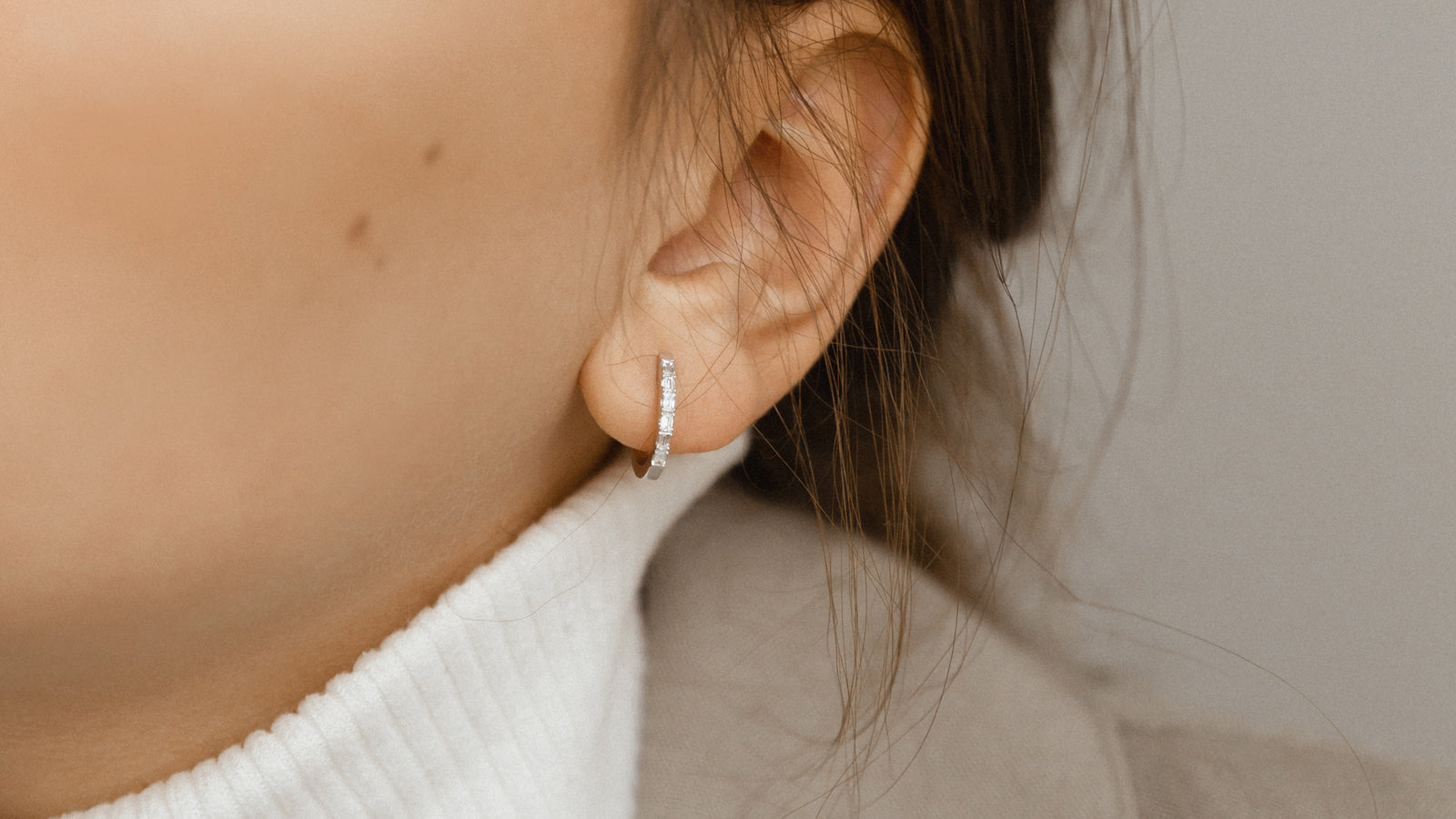The Huggie Baguette Earrings