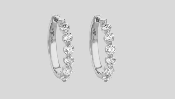 The Multiple Diamond Hoops w/ 1.5 Carats