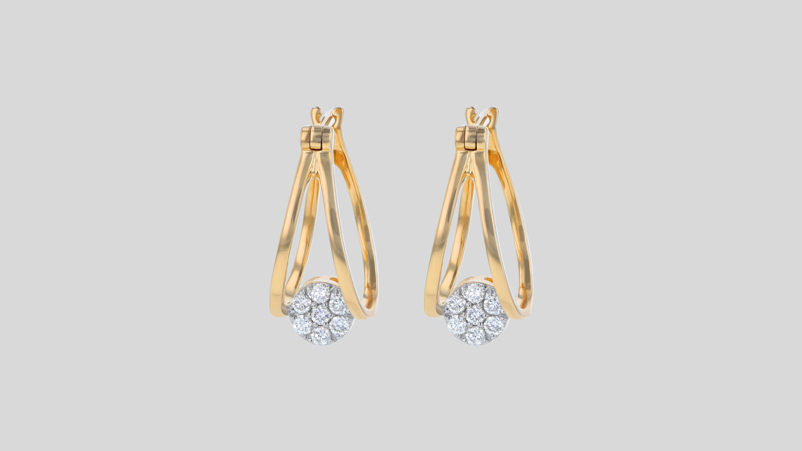The 1920's Split Hoop Diamond Earrings