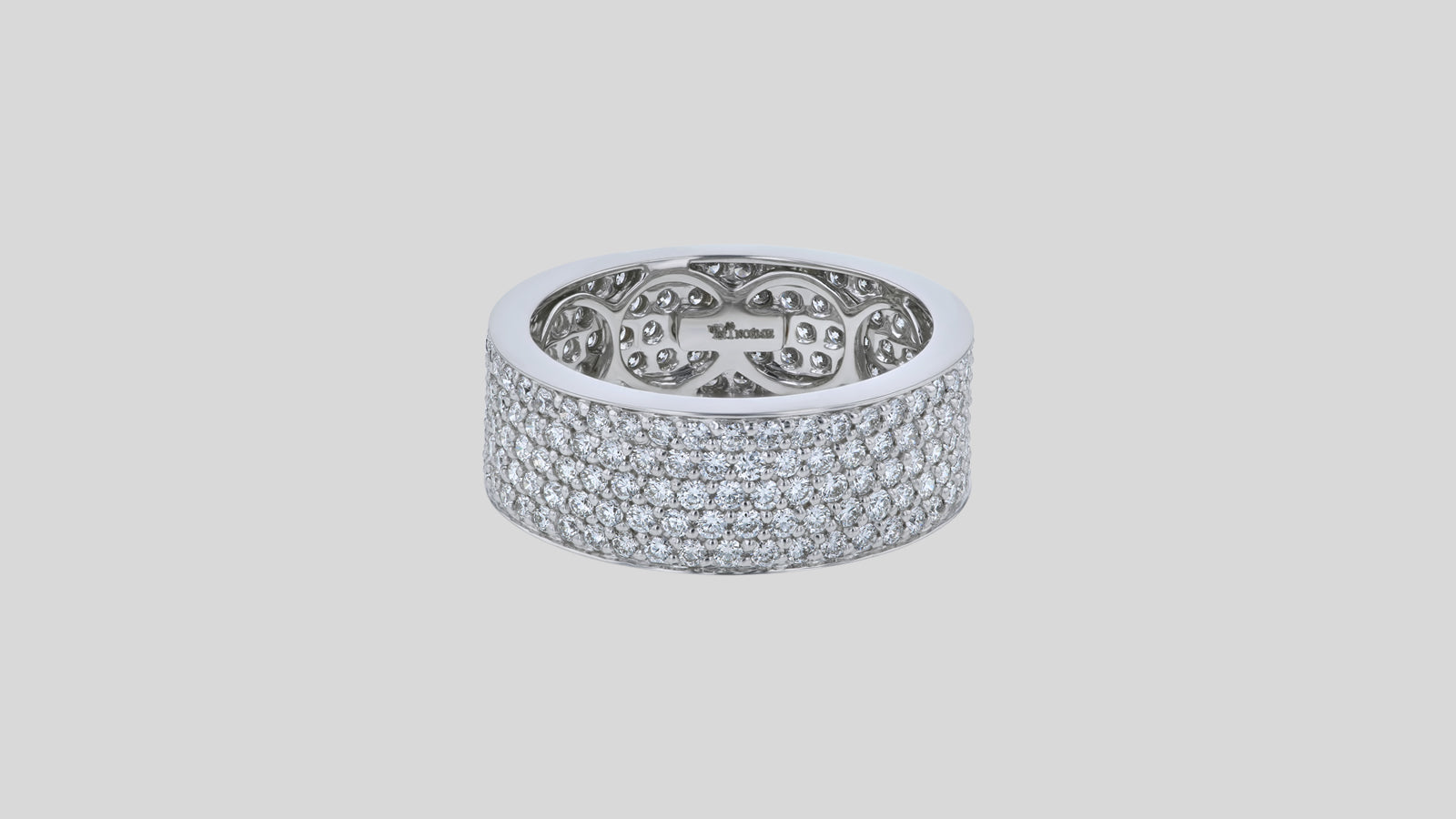 The 5-Row White Diamond Band