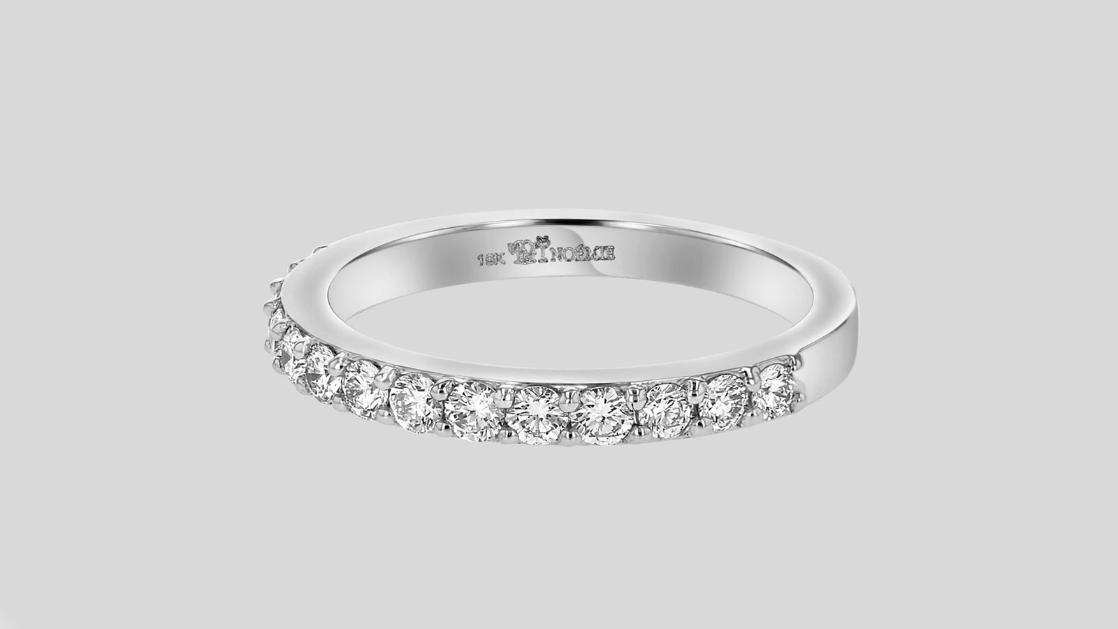The Lab Grown Half Band Diamond Ring