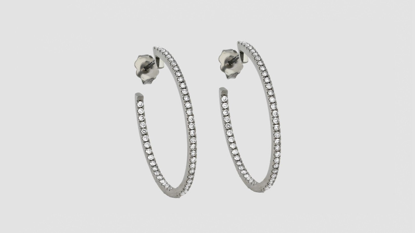 The Diamond Hoop Earrings