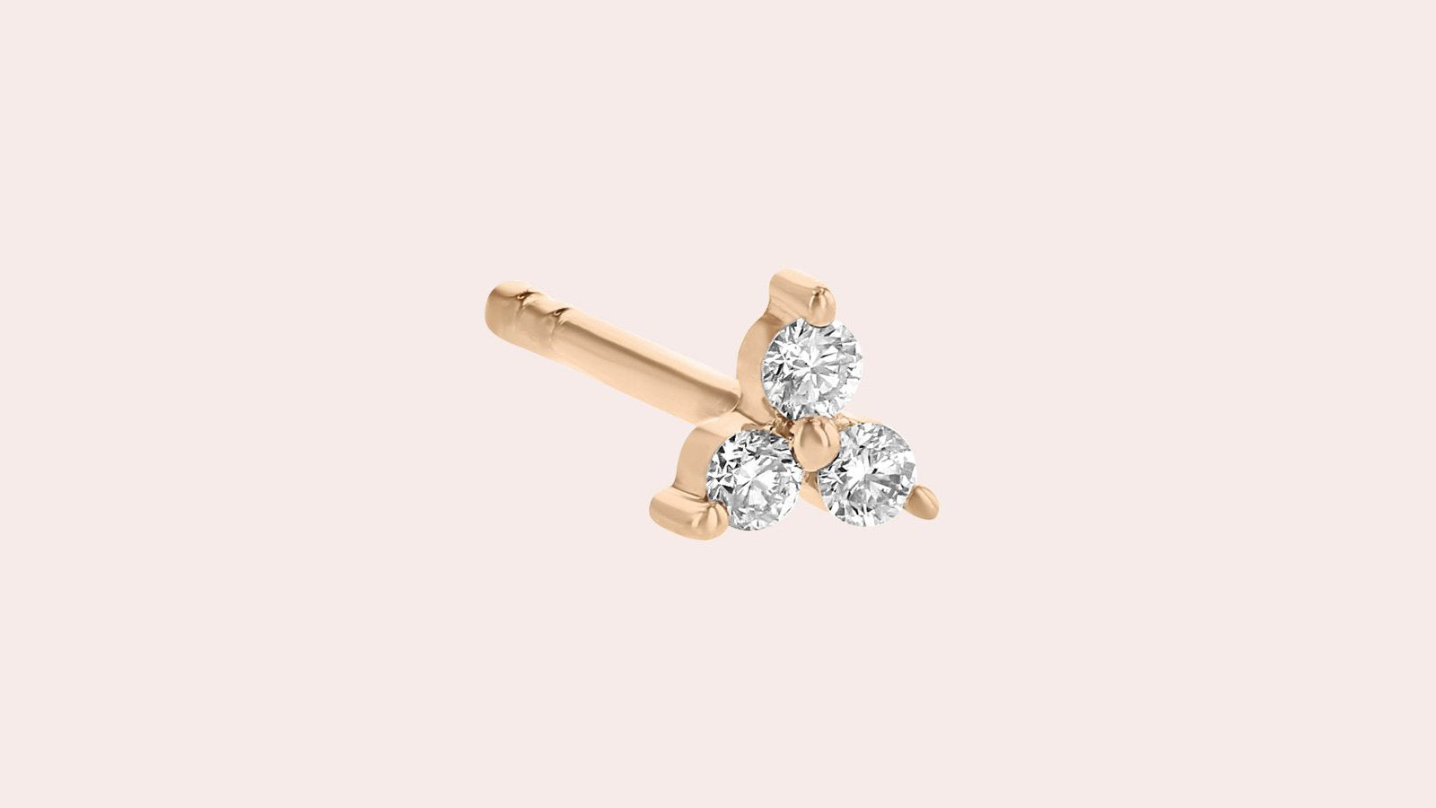 The Single Mini Trois Diamond Earring