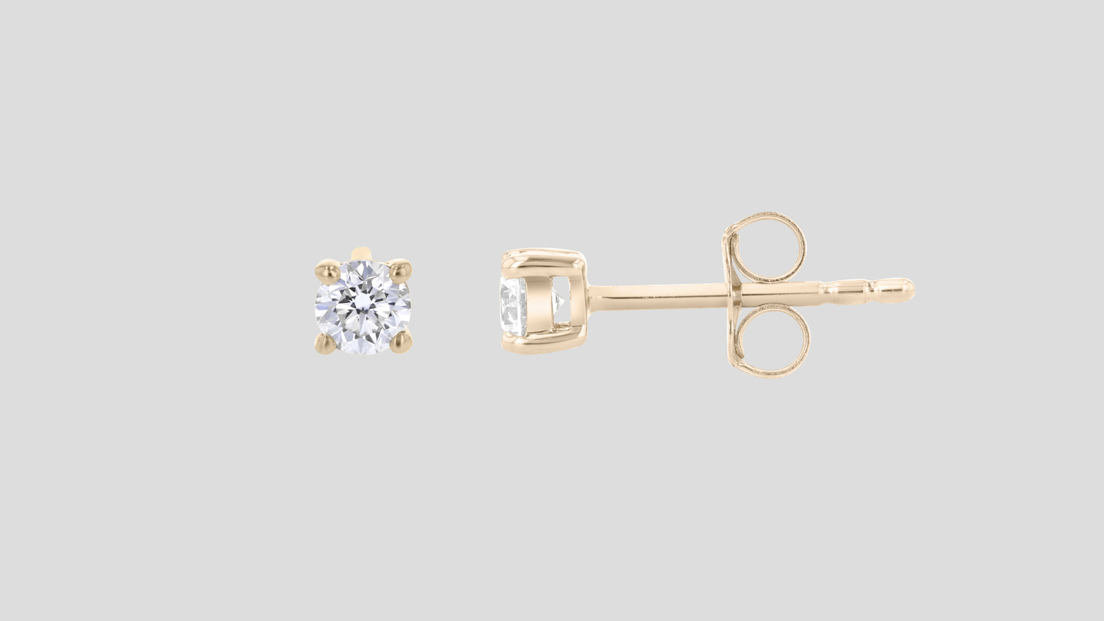 The Round Diamond Stud Earrings