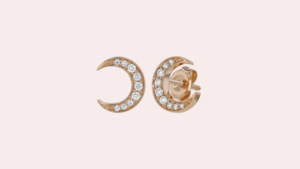 The Crescent Moon Studs