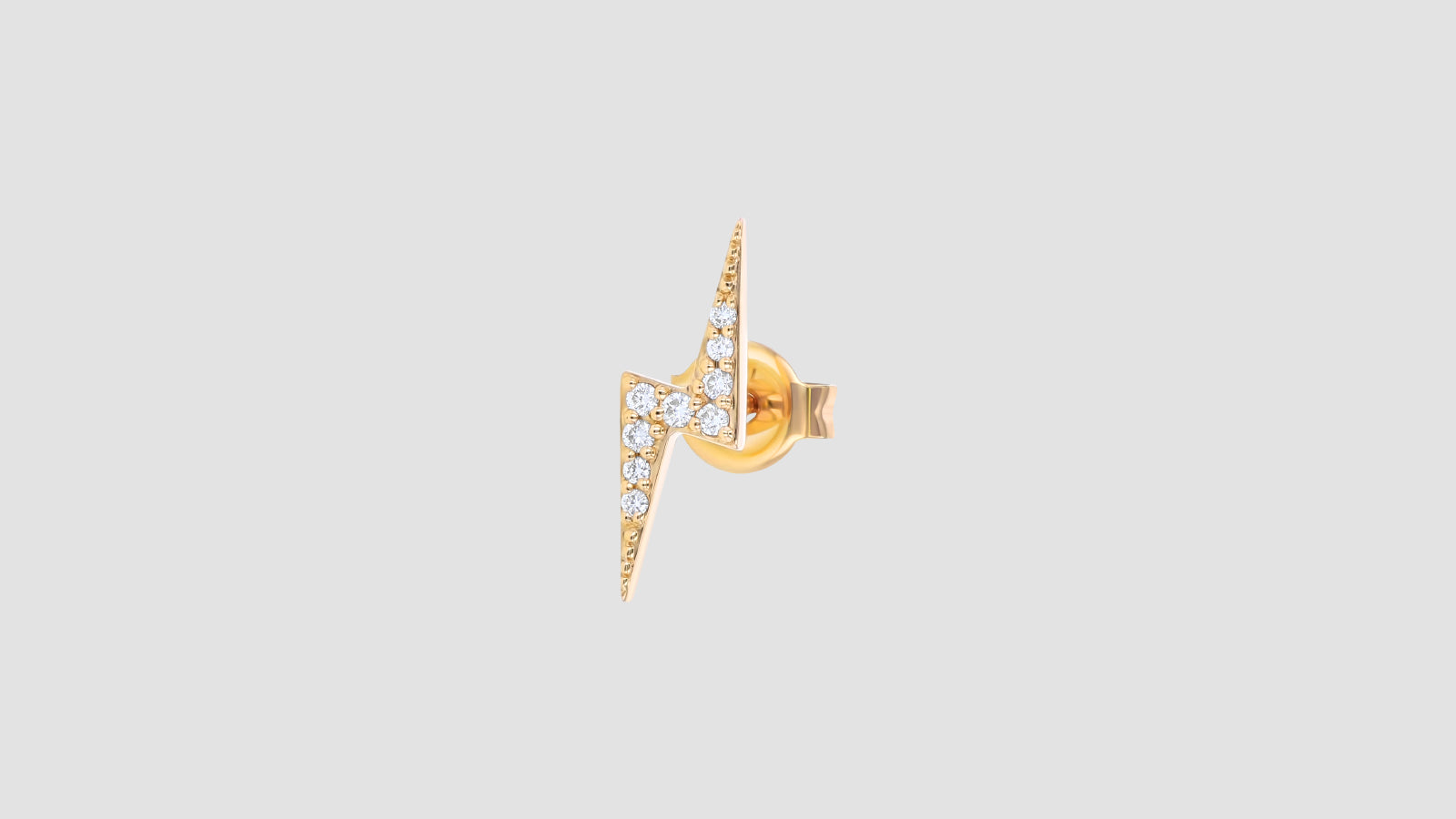 The White Diamond Lightning Bolt Stud
