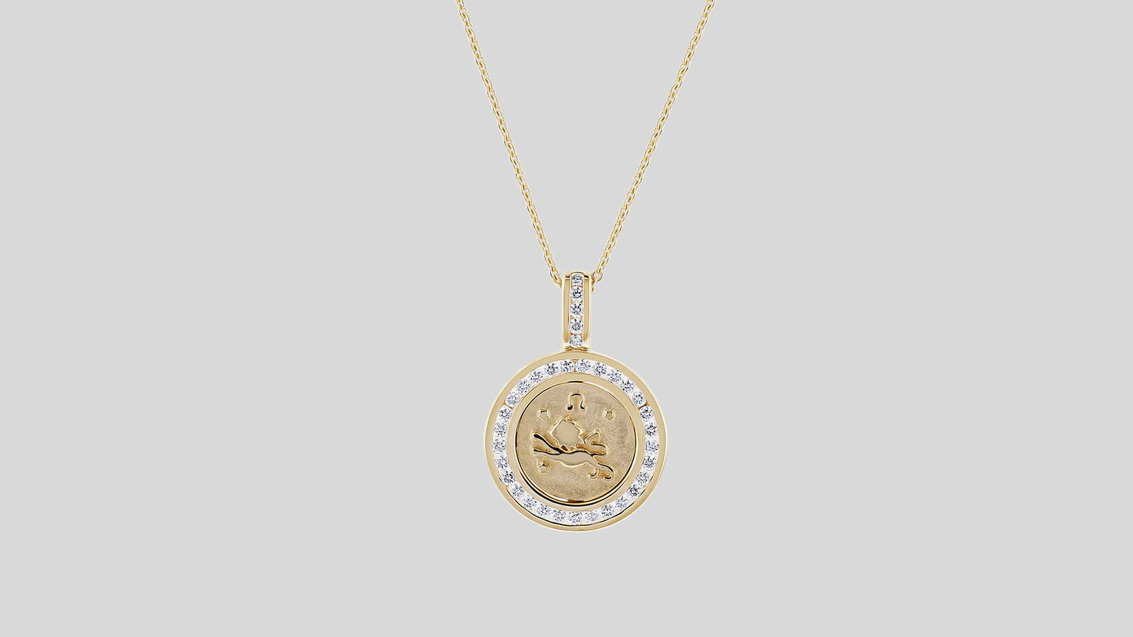 The Zodiac Necklaces without the 18k Gold Chain