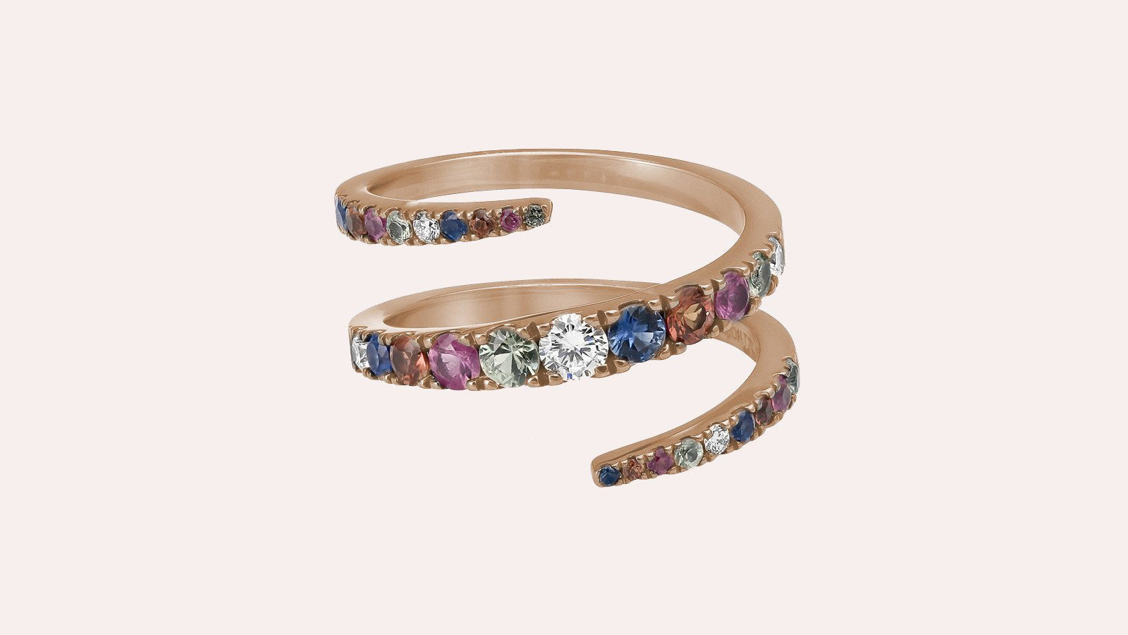 The Multi-Color Sapphire Graduate Ring