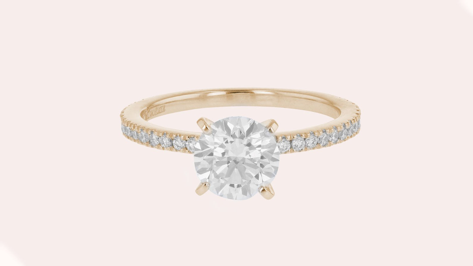 The Solitaire Pavé Ring