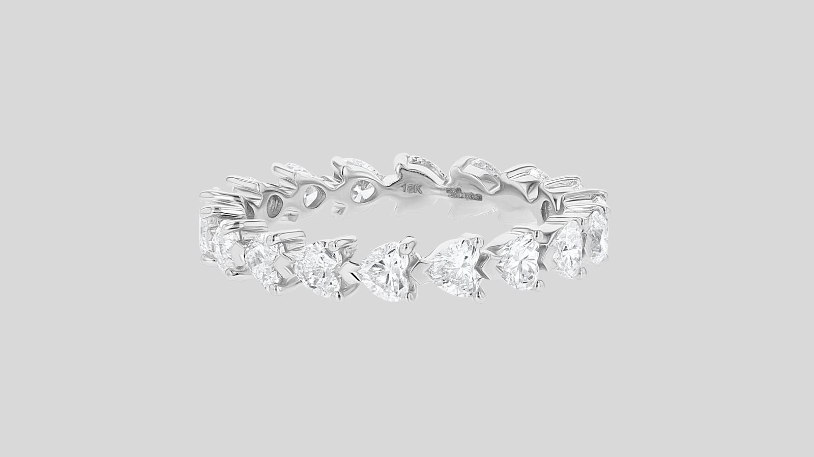 Heart Shaped Eternity Band