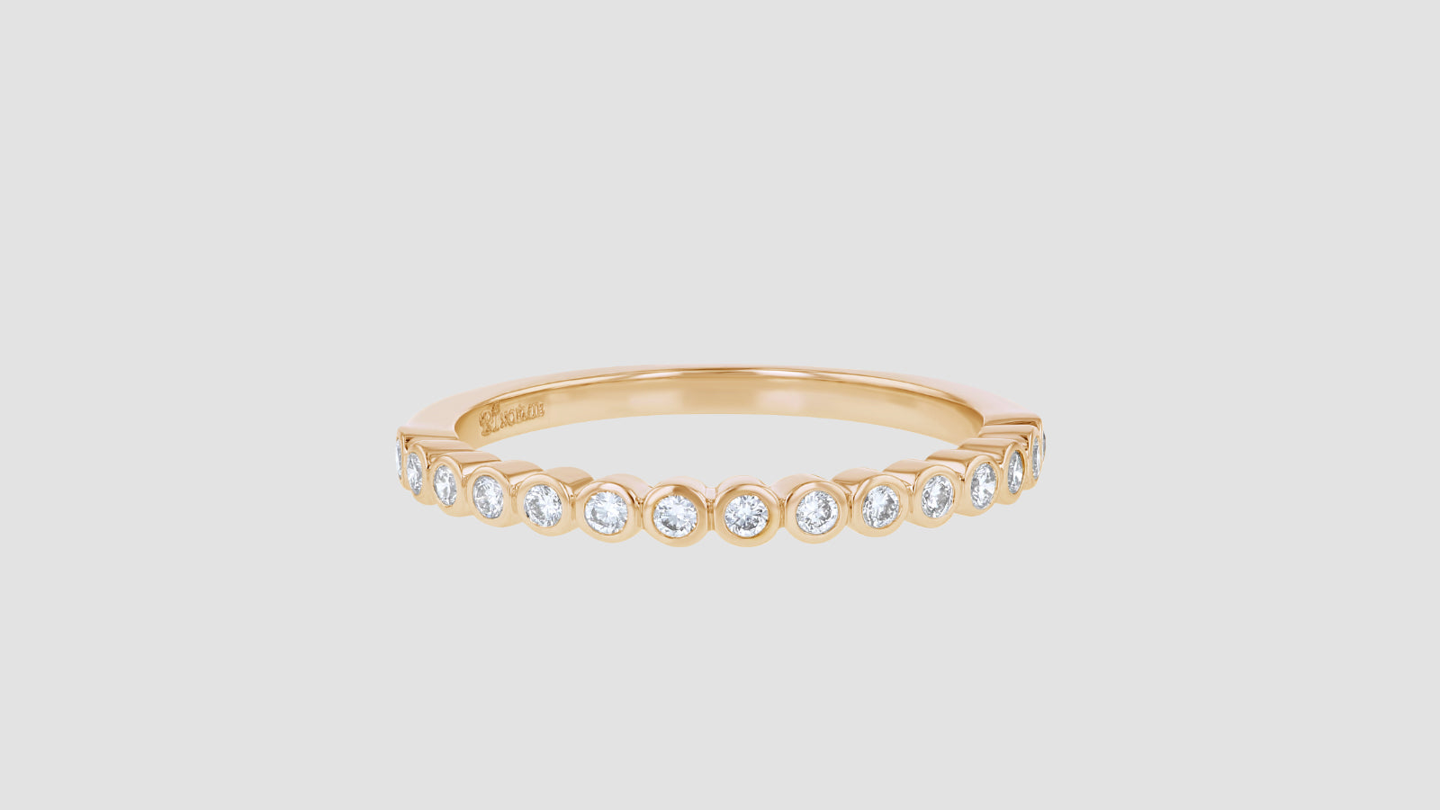 The Half Band Bezel Diamond Ring