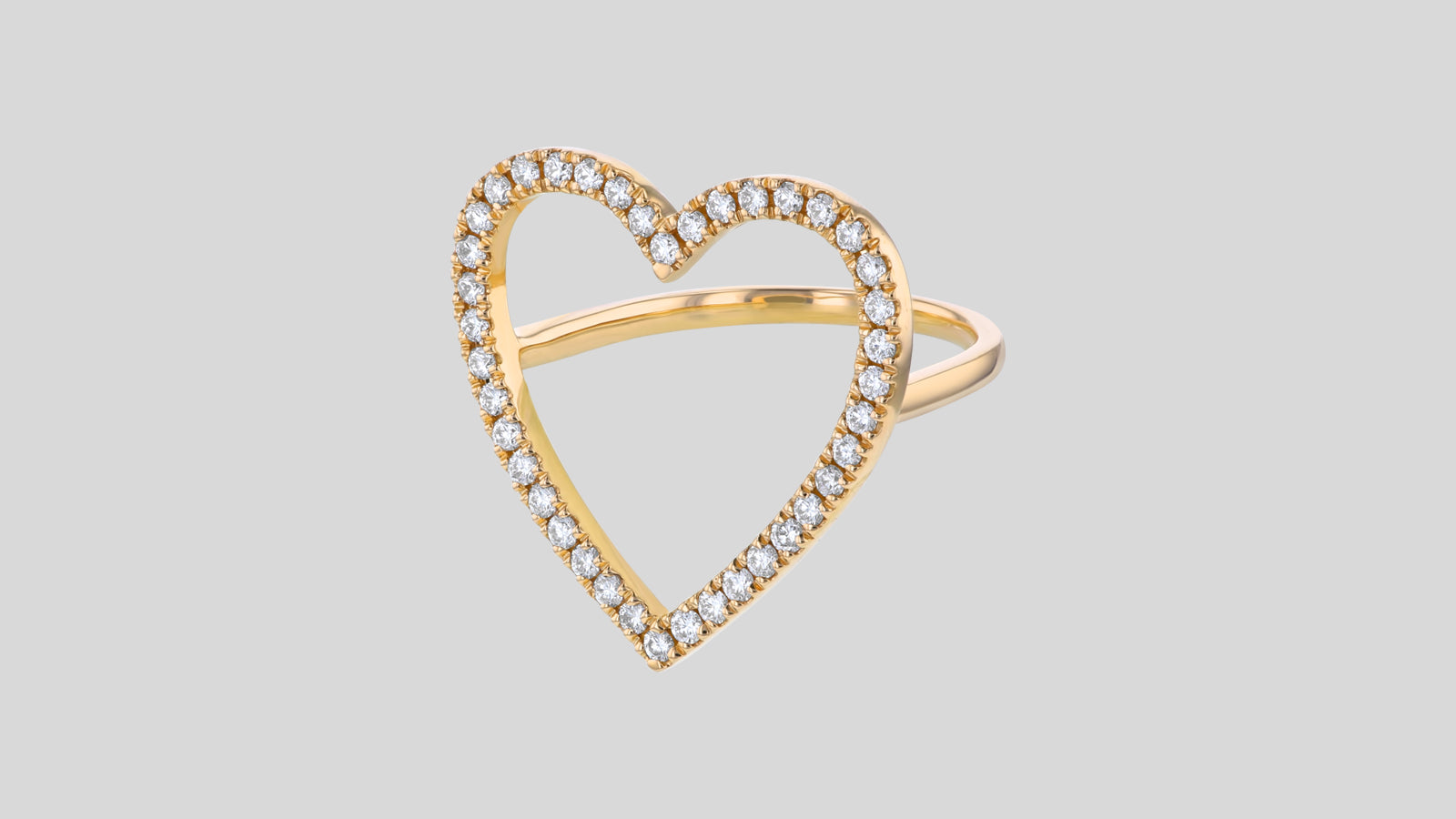 The Open Heart Diamond Ring