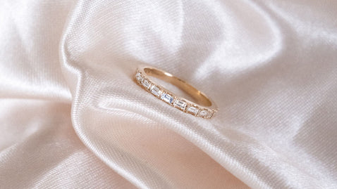 The Baguette Diamond Band Ring