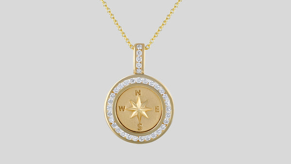 The Diamond Compass Necklace