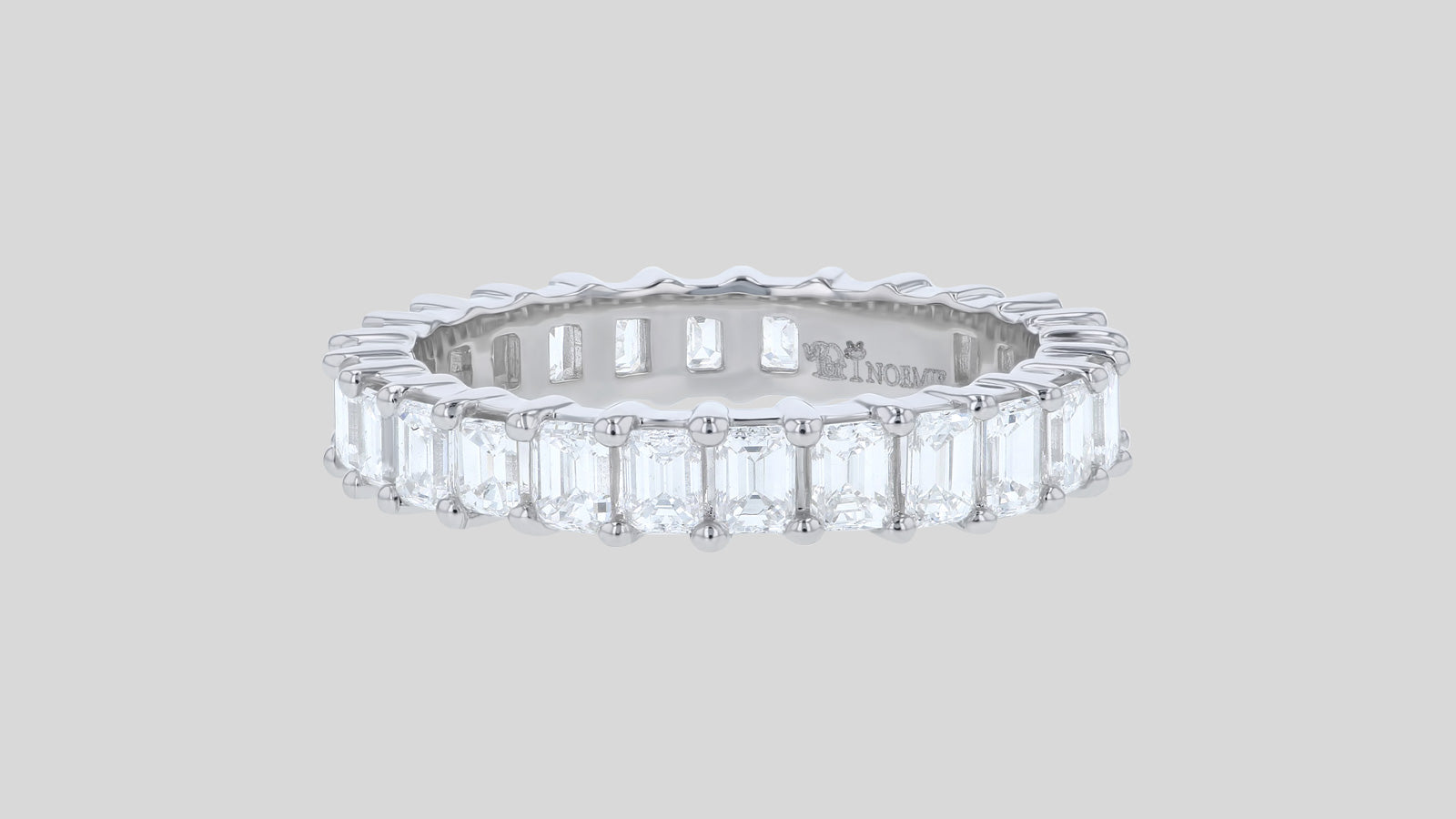 The Lab Grown Emerald Cut Eternity Band