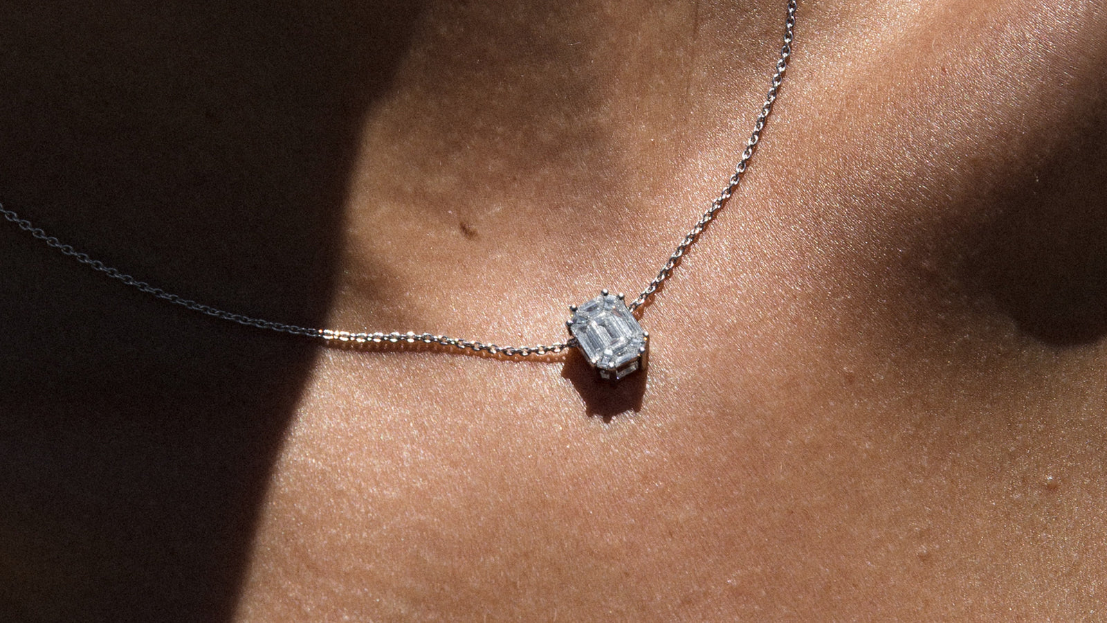 The Composite Emerald Cut Necklace
