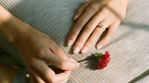 The Lab Grown Solitaire Pavé Ring