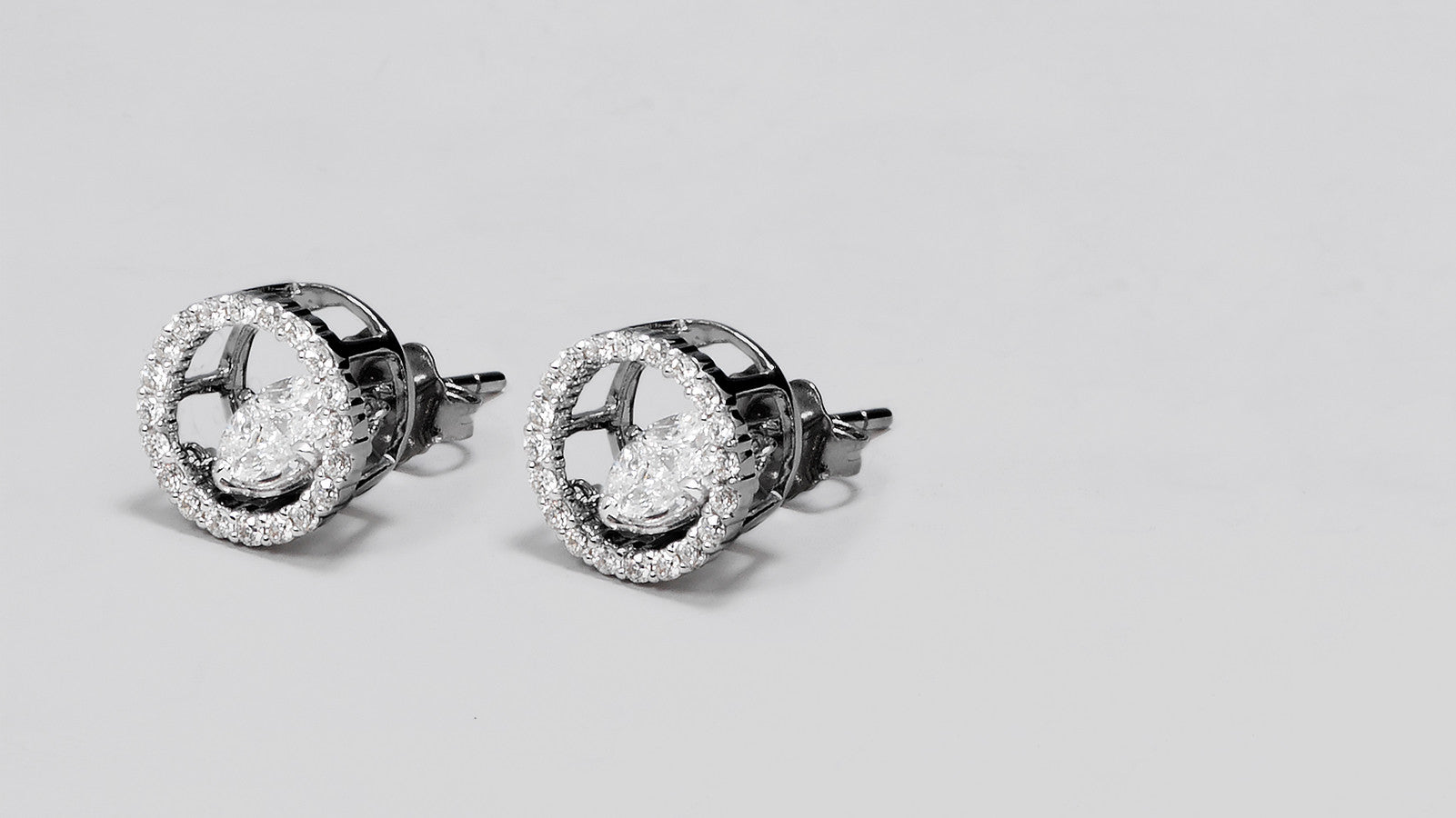 The Rumba Dancing Diamond Stud Earrings