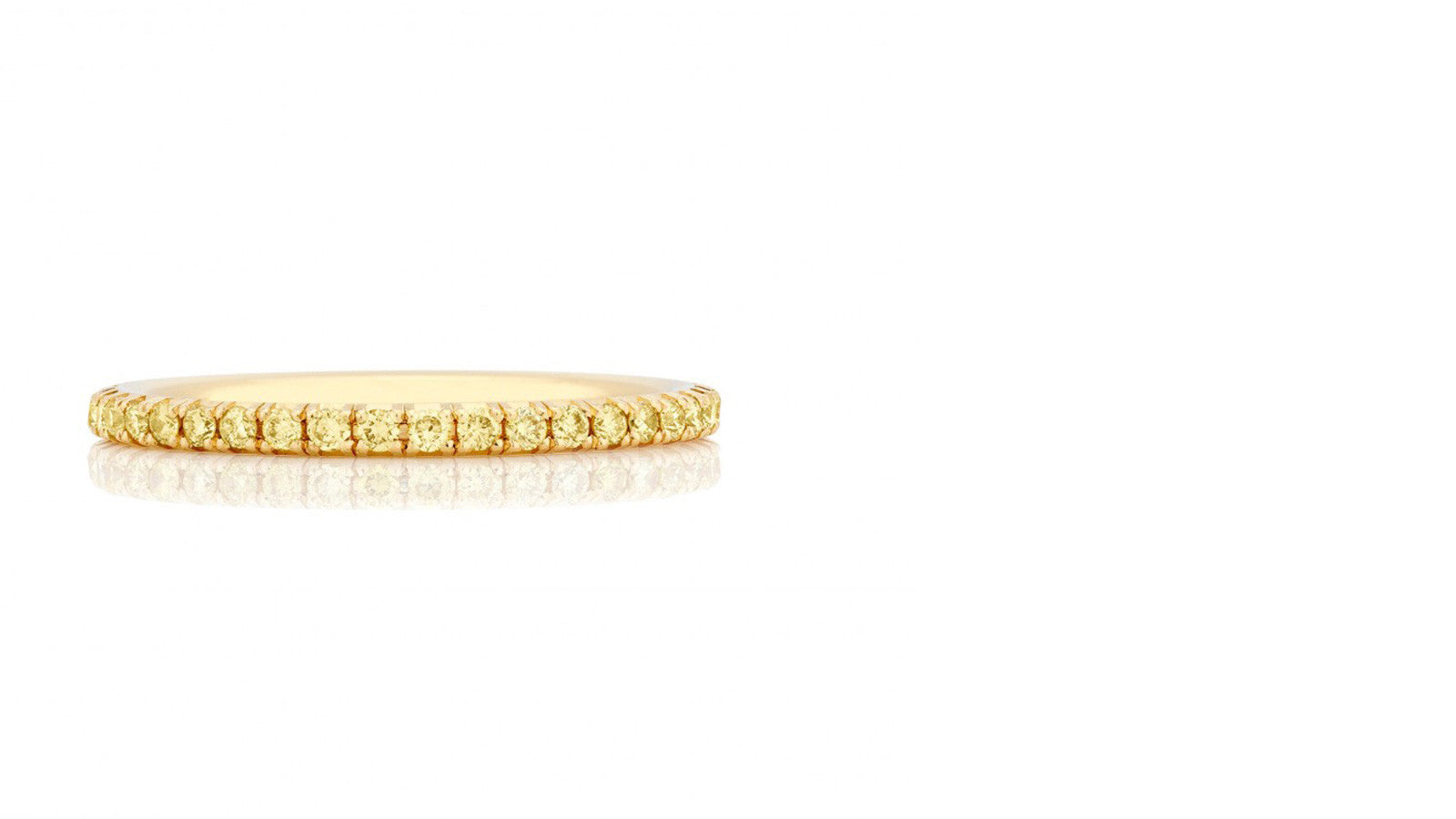 Yellow Diamond Yellow Gold Band