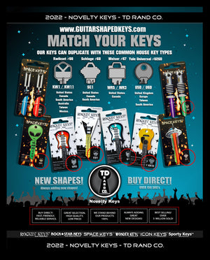 TD RAND CO. Novelty Keys - All Products